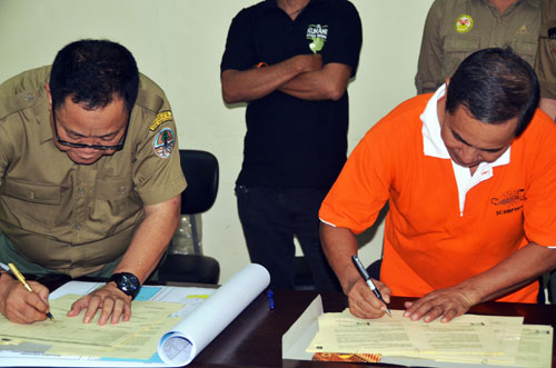 BBKSDA in North Sumatra Signs an Agreement with Scorpion  to Eradicate Wildlife Crimes (March 8, 2016)