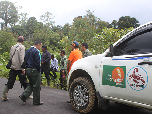 Joint patrol for protection of Tapanuli orangutan (March 27, 2018)