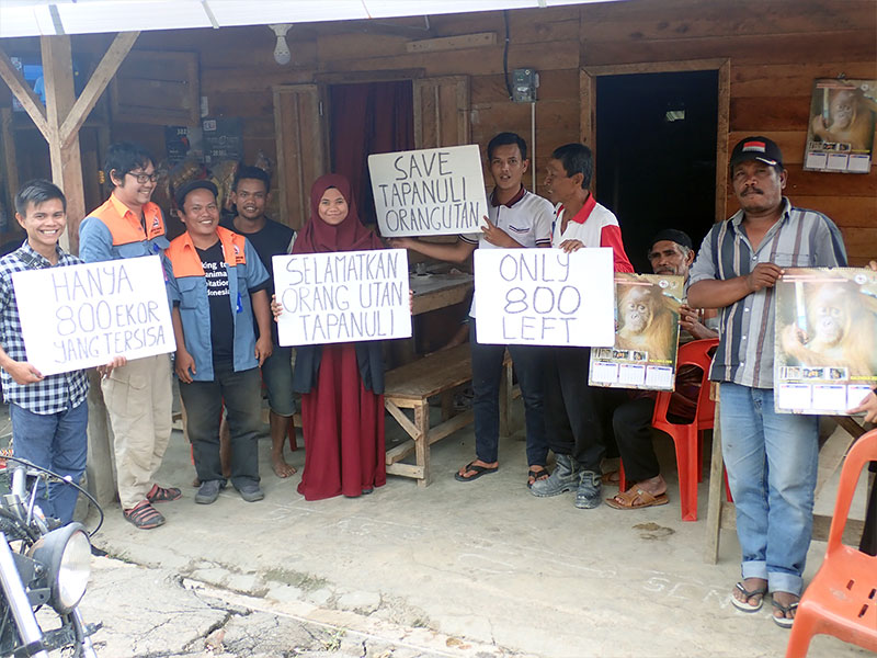 Outreach Activity to Prevent Tapanuli Orangutan Capture at Marsada Village, South Tapanuli Regency (March 15, 2020)